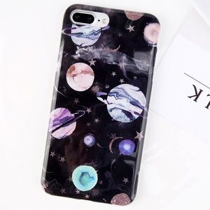 Accessories - NEW iPhone 7/8/7+/8+ Planet Space Stars Soft Case